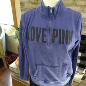 VS Pink 1/2 zip sweater